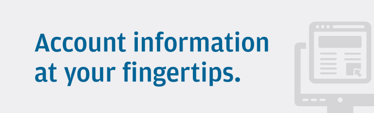 Account information at your fingertips